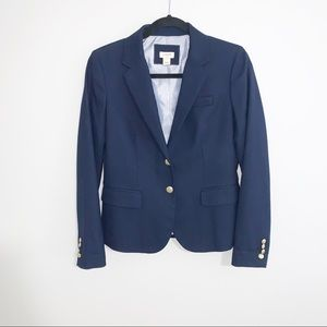 J Crew Dark Blue Blazer Jacket with Gold Buttons